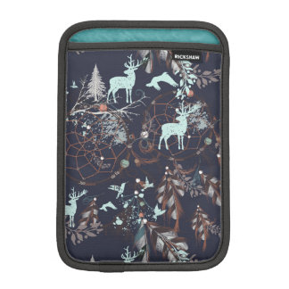 Glow in dark nature boho tribal pattern iPad mini sleeve