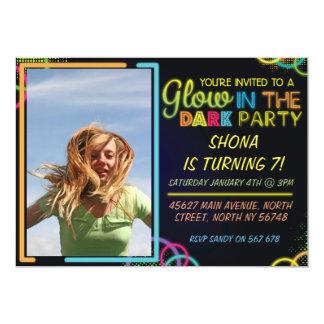 Glow In The Dark Children's Birthday Invitation