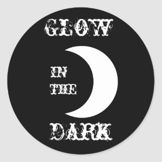 Glow in the Dark Classic Round Sticker