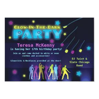 Glow in the Dark Party Invitation