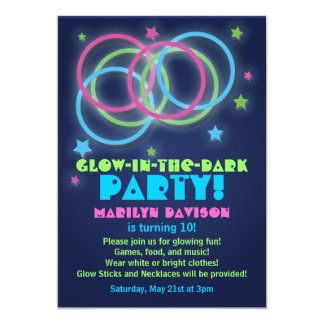 Glow In The Dark Party Invitations Announcements Zazzlecomau