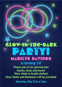 Glow In The Dark Party Invitations Announcements Zazzle Au