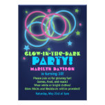 Glow in the Dark Party Invitations Rings & Stars