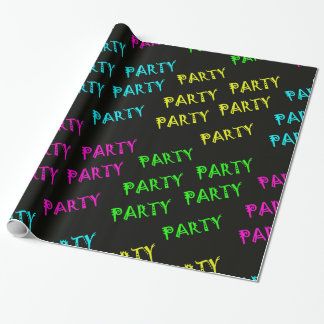 Glow In The Dark Party Wrapping Paper Or Banner