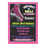 Glow in the dark roller Skating party invitations