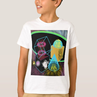 Glow in the dark shapes surrounded by space dust T-Shirt