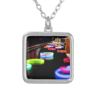 Glow In the Dark Silver Plated Necklace