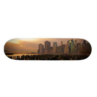 Glow of sunset during stormy skies over East 21.6 Cm Old School Skateboard Deck