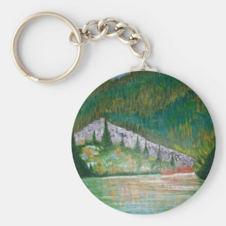 Glow Of The Lake Basic Round Button Key Ring