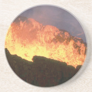glow of volcanic fire coaster