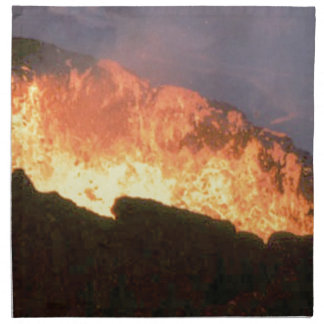 glow of volcanic fire napkin