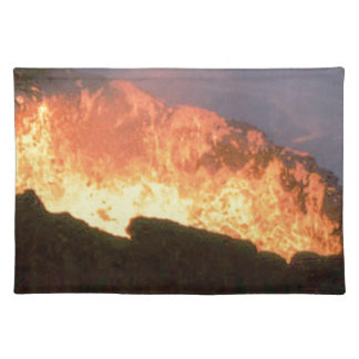 glow of volcanic fire placemat