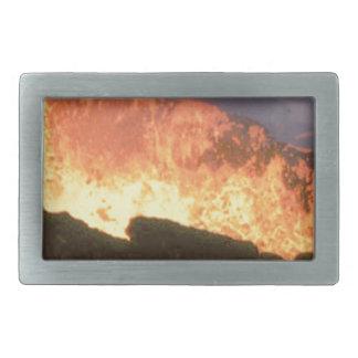 glow of volcanic fire rectangular belt buckle