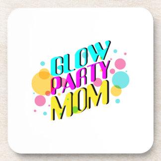 Glow Party Mom Neon Theme 80's Party Coaster