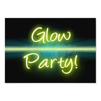 Glow Party, Yellow/Green Blacklight Invitation