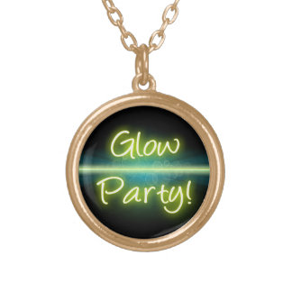 Glow Party, Yellow/Green Blacklight Necklaces