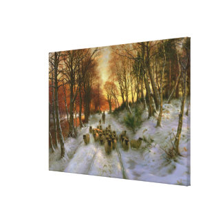 Glowed with Tints of Evening Hours Canvas Prints