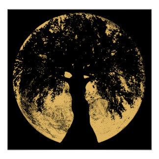 Glowees Moon Oak Goddess Poster