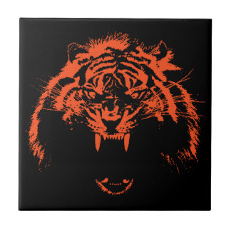 Glowees Tiger Small Square Tile