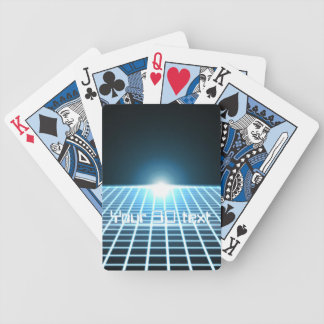 Glowing 3D-Grid with customizable text Bicycle Playing Cards