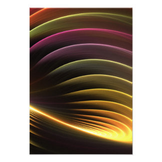 Glowing Abstract Fractal Vortex Invitations