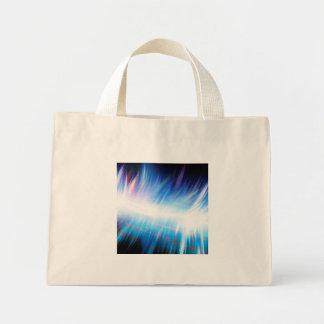 Glowing Audio Waveform Mini Tote Bag