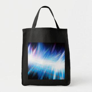 Glowing Audio Waveform Tote Bags