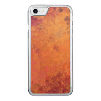 Glowing Autumn Branch Watercolor Carved iPhone 7 Case