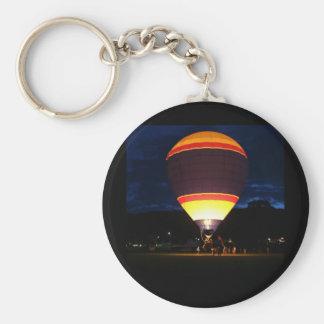 Glowing balloon, ufo basic round button key ring