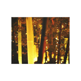 Glowing Bamboo in Tokyo, Japan Gallery Wrapped Canvas