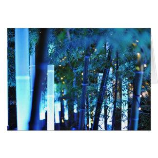 Glowing Bamboo in Tokyo, Japan. Card