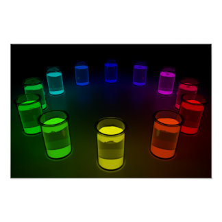 Glowing Beakers Poster