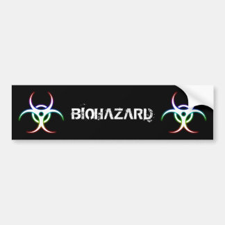Glowing Biohazard Symbol - Bumper Sticker