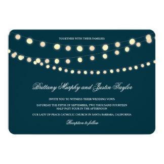 Glowing Bistro Lights Wedding Invitation