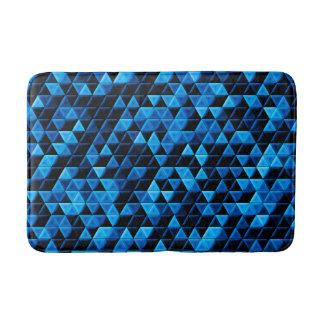Glowing Blue Tiles Bath Mat