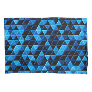 Glowing Blue Tiles Pillowcase