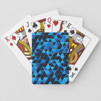 Glowing Blue Tiles Playing Cards