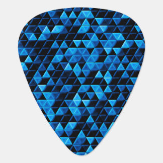 Glowing Blue Tiles Plectrum