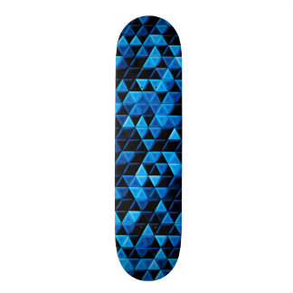 Glowing Blue Tiles Skate Board Decks