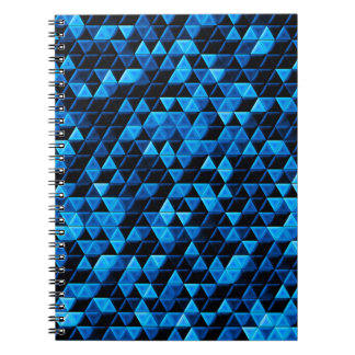 Glowing Blue Tiles Spiral Notebook