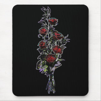 Glowing Bouquet Roses Mouse pad