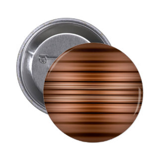 Glowing brown and black stripes 6 cm round badge
