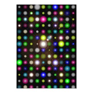 Glowing Bubbles 13 Cm X 18 Cm Invitation Card