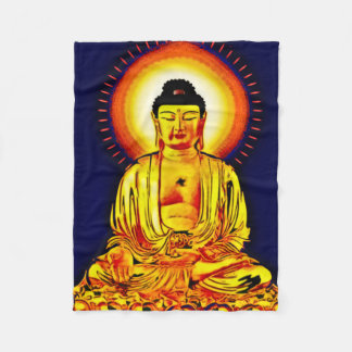 Glowing Buddha Airbrush Art Fleece Blanket