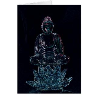 glowing buddha card