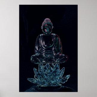 glowing buddha poster