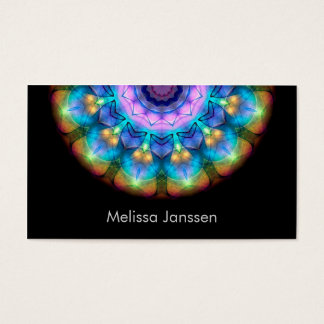 Glowing Burnt Glass -Mandala- Business Card