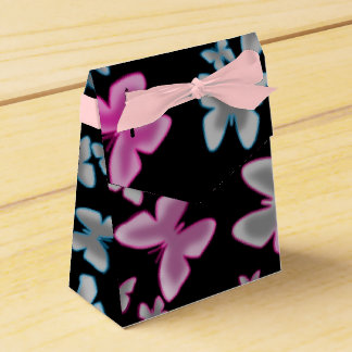 glowing butterflies ribbon favor box favour boxes