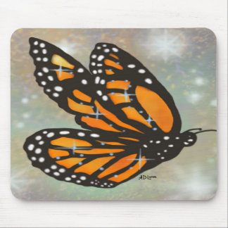 """Glowing Butterfly"" Mousepad"