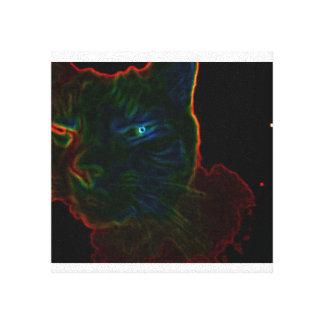 Glowing Cat Canvas Prints